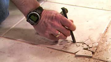 Замена плитки, ремонт сколов и швов